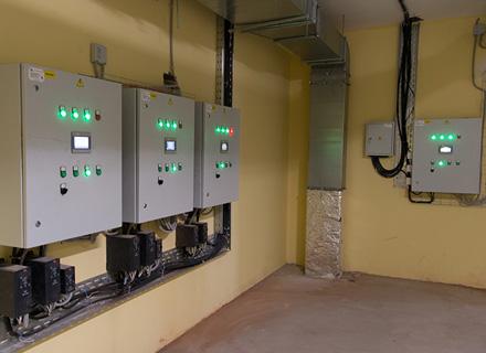 Щиты автоматизации общеобменной вентиляции